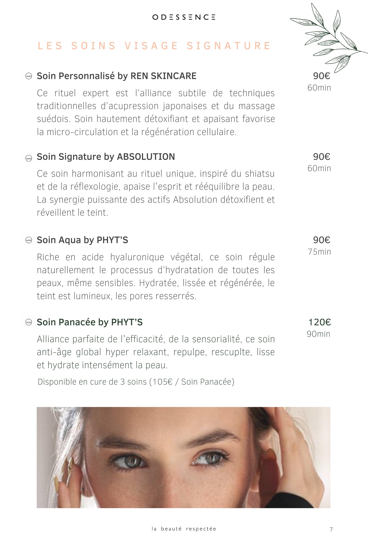 Soins visage Phyt's - REN skincare - Absolution - Odessence - Beauté naturelle & bio à Bordeaux