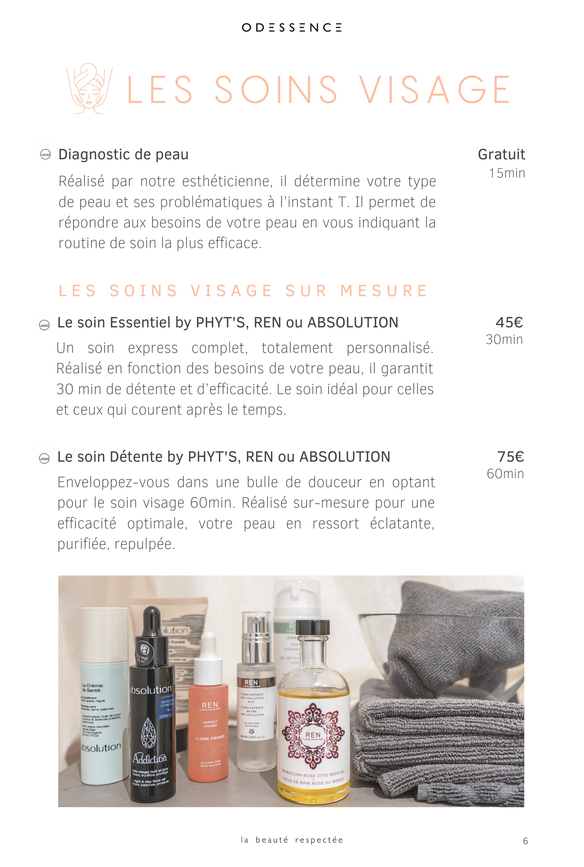 Soins visage bio - Odessence - Beauté naturelle & bio à Bordeaux - Institut